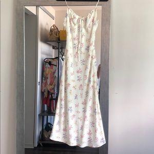 Cotton Candy LA white floral print midi dress S